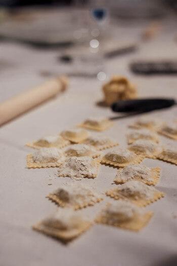 Types de pâtes ravioli