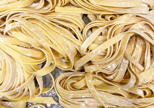 Types de pâtes tagliatelle