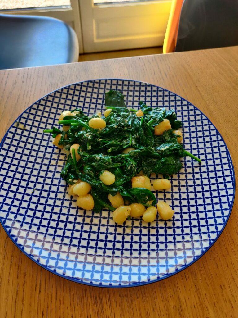 gnocchi épinards frais
