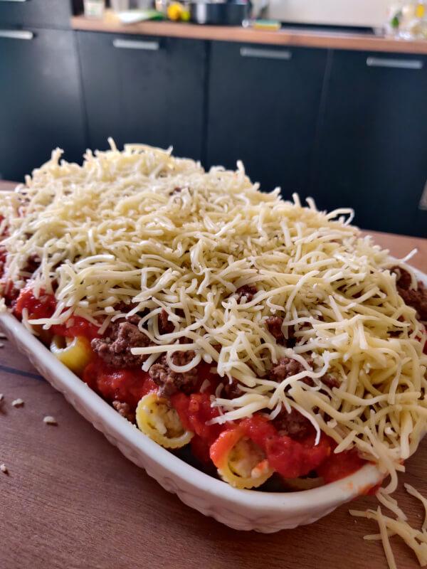 Honeycomb Pasta recette avant cuisson