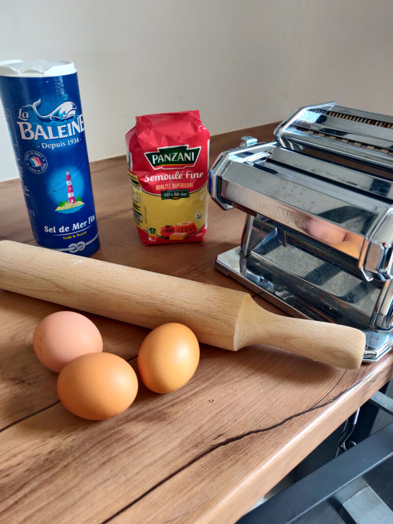 recette pâte fraîche pour machine à pâte