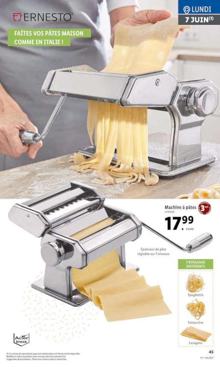 Machine à pâtes Lidl Ernesto prospectus
